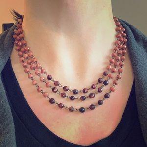 LOFT 3 strand beaded necklace